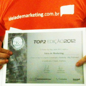 Ideia de Marketing é Top 2 no Top Blog Brasil 2012